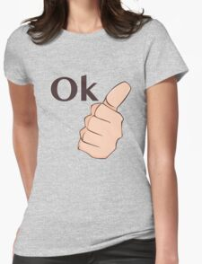 It's ok Womens Fitted T-Shirt