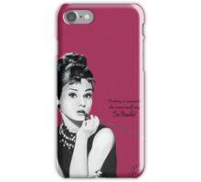 Audrey Hepburn Pink iPhone Case/Skin