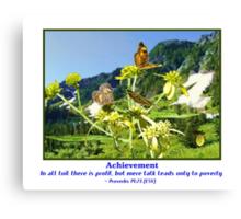 Butterflys and Achievement Canvas Print