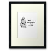 All Dogs Are Superheroes Framed Print