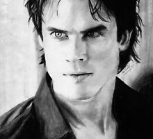 Damon Salvatore fan print by tvdtumblcon
