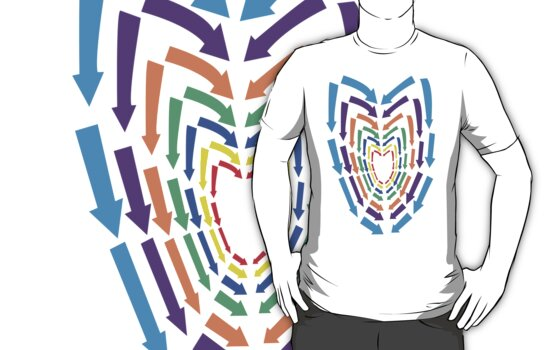 (Arrows) Colourful Heart by arrowmandesigns