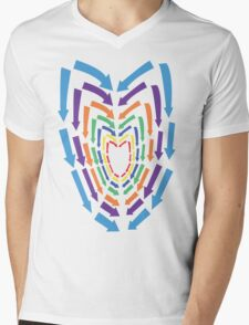 (Arrows) Colourful Heart Mens V-Neck T-Shirt