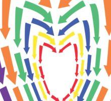 (Arrows) Colourful Heart Sticker