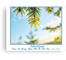 Spring Drop and Adventure Canvas Print