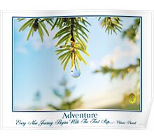 Spring Drop and Adventure Poster