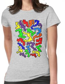 (Arrows) Colourful Womens Fitted T-Shirt