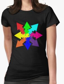 (Arrows) Swirl Womens Fitted T-Shirt