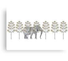 wire elephant illustration Canvas Print
