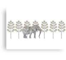 wire elephant illustration Canvas Print