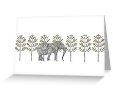 wire elephant illustration Greeting Card