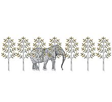 wire elephant illustration Photographic Print