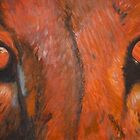 Tiger eyes - oil painting by Chris Brunton
