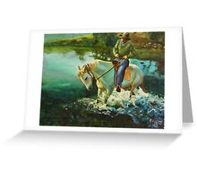 Dancing horse - oil painting Greeting Card