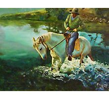 Dancing horse - oil painting Photographic Print