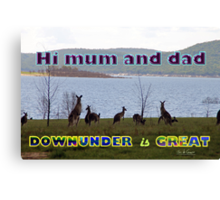 Downunder is Great Canvas Print