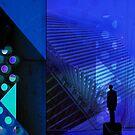 Blue Man, Milwaukee Architecture series  by Elizabeth Bravo