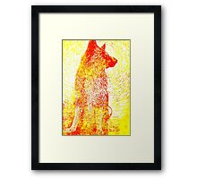 Gentle Jack - Yellow Framed Print