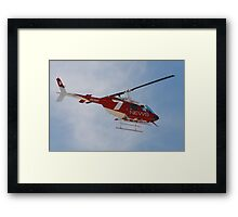 2013 Clipsal 500 Day 2 Media Helicopter Framed Print