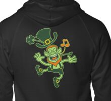 Irish Leprechaun Dancing and Singing Zipped Hoodie