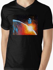 Time Travel Tardis Mens V-Neck T-Shirt