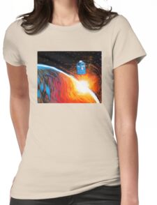 Time Travel Tardis Womens Fitted T-Shirt