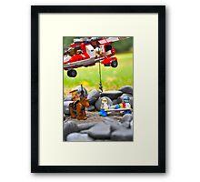 Lego Rescue Framed Print