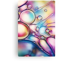 Rainbow Bubble Splash Canvas Print