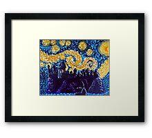 Hogwarts Starry Night Framed Print