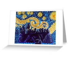 Hogwarts Starry Night Greeting Card