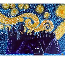 Hogwarts Starry Night Photographic Print
