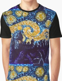 Hogwarts Starry Night Graphic T-Shirt