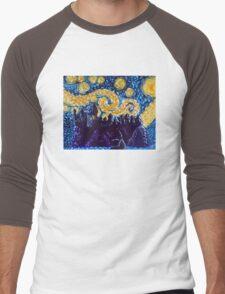 Hogwarts Starry Night Men's Baseball ¾ T-Shirt