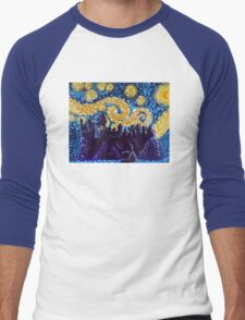 Hogwarts Starry Night Men's Baseball ¾ T-Shirt