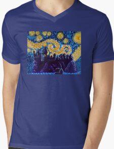 Hogwarts Starry Night Mens V-Neck T-Shirt