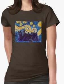 Hogwarts Starry Night Womens Fitted T-Shirt