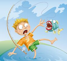 Horrible Fishing Accident by Konstantinas