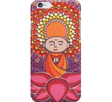Jizo Meditating upon a Ruby Lotus iPhone Case/Skin