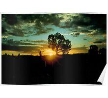 Australian Sunset, Nothern Territory Poster