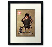 Samurai with an Afro Framed Print