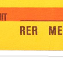 FRENCH Ticket RER-RATP  Sticker