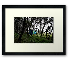 Blue beach box Framed Print