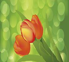 Orange Tulips iPad Case by AdrianeJ