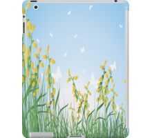 Yellow Flowers and White Butterflies iPad Case iPad Case/Skin
