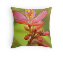 First To Succeed (Watercolor) Throw Pillow