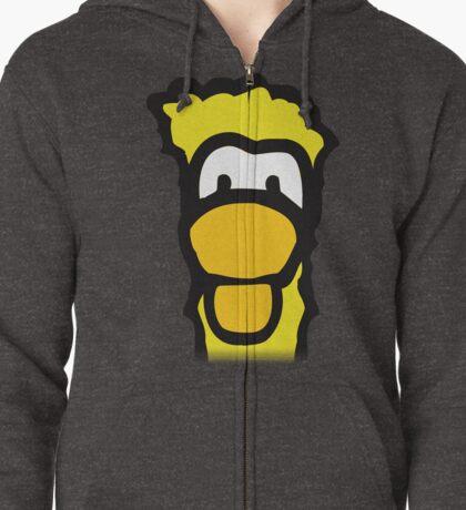 The Yellow Penguin Zipped Hoodie