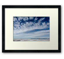 Colorado Clouds and Deep Blue Framed Print
