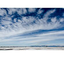 Colorado Clouds and Deep Blue Photographic Print