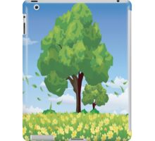 Spring , Beautiful Trees and Yellow Flowers iPad Case iPad Case/Skin