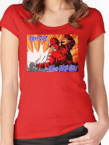 North Korean Propaganda - Red Army Women's Fitted Scoop T-Shirt